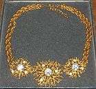 AVON SIGNED KJL KENNETH JAY LANE CHUNKY GOLDTONE NECKLACE RHINESTONES