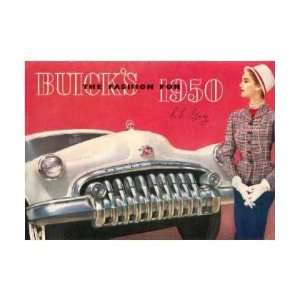 1950 BUICK Sales Brochure Literature Book Piece