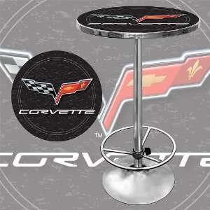 Corvette C6 Pub Table   Black   Game Room Products Pub