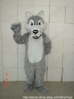 Timber Wolf ADULT SIZE MASCOT COSTUME SUIT FANCY DRESS