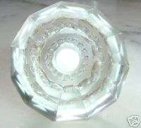 small crystal cut glass drawer & cupboard pulls (knobs