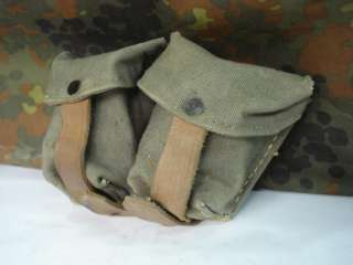WWII ORIGINAL GERMAN ALLY CANVAS M95 K98 AMMO POUCH