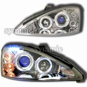 Ford Focus ZX5 Headlights Chrome Blue LED Pro Headlights