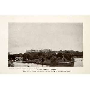 1924 Print Chapultepec Castle Hill Mexico City Castillo