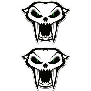 Arctic Cat Snowmobile Racing Car Bumper Sticker Stickers Set of 2 3.5