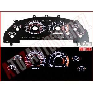 Black 99 00 01 02 03 Ford Mustang V6 White Glow Gauges