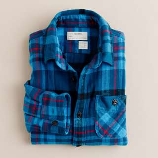 Boys flannel shirt in lagoon plaid   flannel shirts   Boys shirts