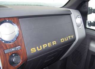 Super Duty Dash Letter Inserts for your 2008 F Series 250 350 450