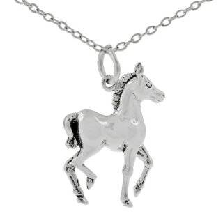 10k Yellow Gold Diamond Horse Pendant (1/10 cttw, I J Color, I1 I2