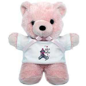 Teddy Bear Pink Sock It To Cancer   Cancer Awareness Pink