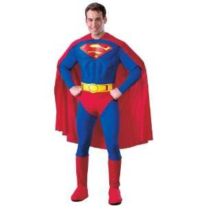 By Rubies Costumes Superman Deluxe Adult Costume / Red   Size Medium