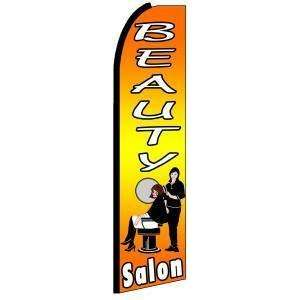 Beauty Salon Extra Wide Swooper Feather Business Flag