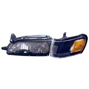 Toyota Corolla Replacement Headlight Assembly (Diamond Design, Black