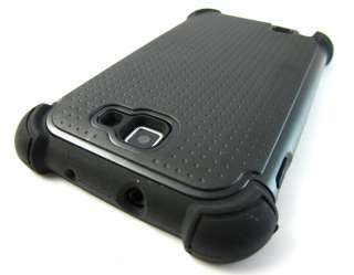 BLK TRIPLE Soft Hard Hybrid Skin Case Cover Samsung Galaxy Note Phone