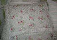 Rachel Ashwell QUILTED Sea Blue sage rose patchwork PILLOW shams