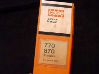 ORIGINAL CASE 770 870 TRACTOR SERVICE MANUAL NOT A SHRINK WRAPPED