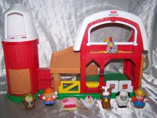 FISHER PRICE FARM BARN LOT SET ANIMALS LITTLE PEOPLE PLAY SET