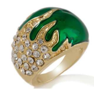 IMAN Global Chic Colorful Swirl Knock Out Crystal Ring