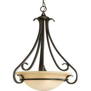 Progress Lighting Torino Collection Forged Bronze 3 light Foyer