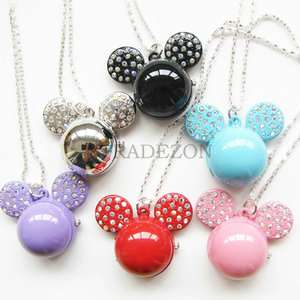 New Mickey mouse Pocket watch necklace pendant 6 color available for