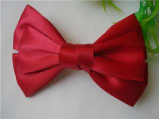 Gk4437 New Fashion Jewelry Womens Charm Red Silk Fabric Bowtie