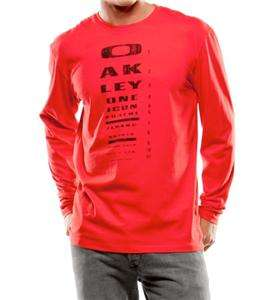 NWT*OAKLEY EYE PATCH LONGSLEEVE MENS T SHIRT*RED LINE*ALL SIZES