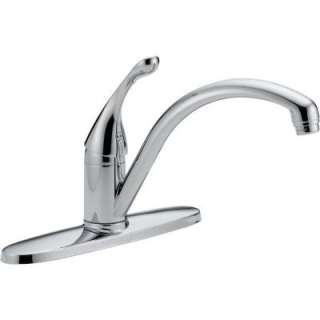 Collins Single Handle Kitchen Faucet in Chrome with Water Efficient