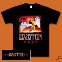 Led Zeppelin Swan Song COLOR MEN SHIRT NEW BLACK
