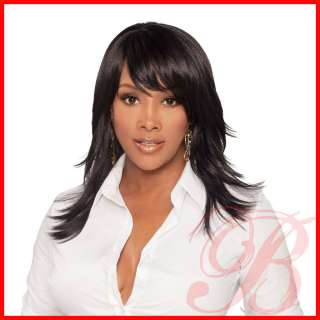 Pure Stretch Cap Long Straight Layered Cut Full Wig MERLE