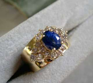 LADIES Stunning Top Gem Quality Blue Sapphire and Diamond Ring