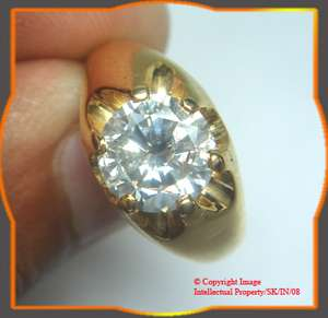 02ct SOLITAIRE ROUND DIAMOND ENGAGEMENT 14k GOLD RING
