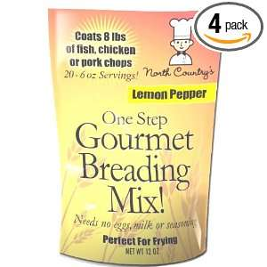 North Country One Step Gourmet Breading Mix Lemon Pepper, 12 Ounce