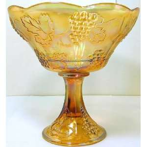 Indiana Glass Harvest marigold carnival glass compote