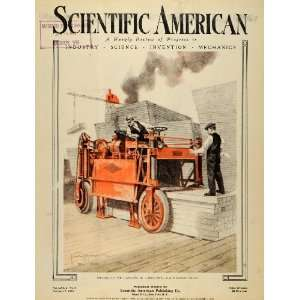 1920 Cover Scientific American Lumber Straddle Truck Carrier Vehicle
