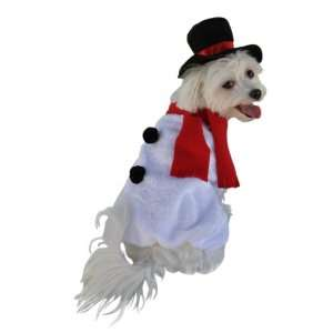 Anit Accessories Snowman Dog Costume, 12 Inch Pet