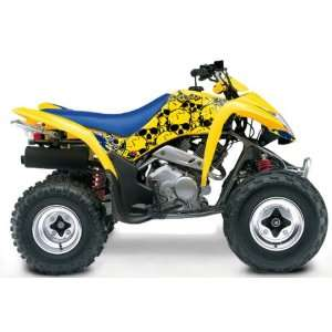 Suzuki LT Z250 Destroyer ATV Graphic Kit (Yellow/Blue