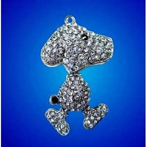 8GB Crystal Snoopy Dog Style Flash Drive with Necklace