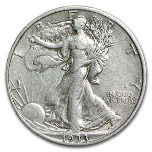 1933 S Extra Fine Walking Liberty Half Dollar (.50) Toys & Games