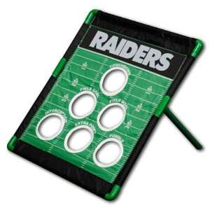 Oakland Raiders NFL Football Field Bean Bag Toss Game