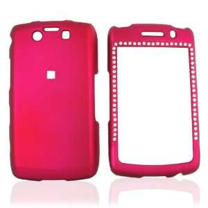 For Blackberry Storm 2 Rubberize Hard Case Gems Pink Electronics