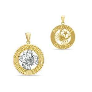 Zodiac Cancer Charm in 10K Two Tone Gold 10K CELESTIAL CHARMS Jewelry