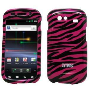 Black Zebra Design Hard Case Cover for Google Samsung Nexus S Cell
