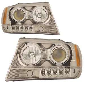Jeep Grand Cherokee KS Chrome Halo Projector Headlight Automotive