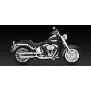 Vance & Hines Chrome Twin Slash Slip On Mufflers For Harley Davidson