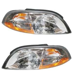 03 Ford Windstar Van Headlights Headlamps Head Lights Lamps Pair Set