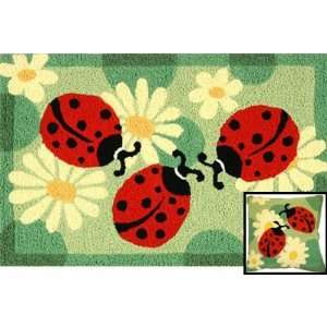Jellybean Ladybugs Indoor Outdoor Rug