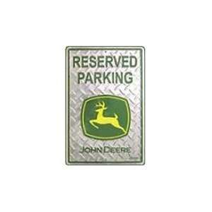John Deere Reserved Parking Sign 12 x 18 JD 01M 6131 Patio, Lawn