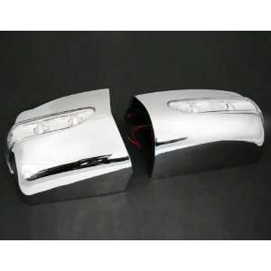 Sporty Custom Look Automotive Chrome Mirror Cover Trim Kit