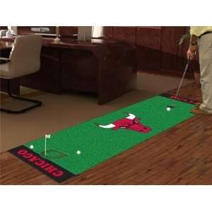 Chicago Bulls Golf Putting Green Runner Area Rug