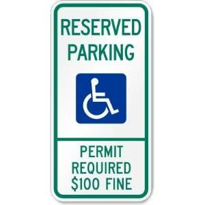 Reserved Parking Permit Required $100 Fine   Engineer